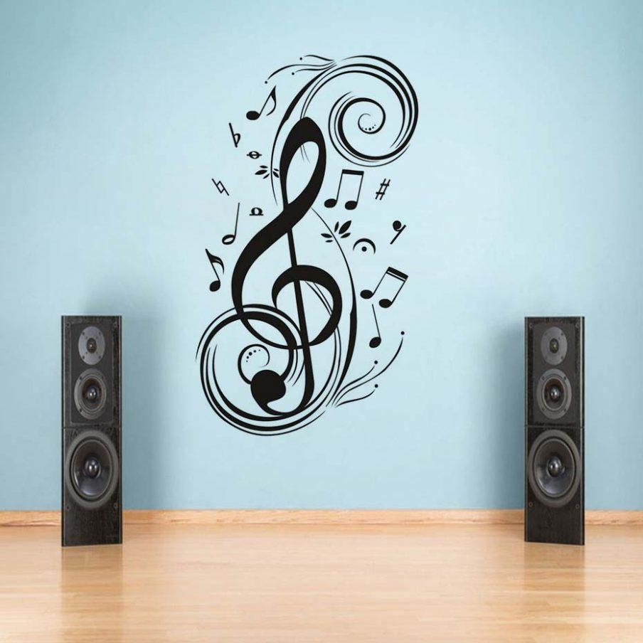 Splendid Wall Decor Diy Musical Note Home Music Wall Art Amazon Pertaining To Music Themed Wall Art (View 14 of 20)