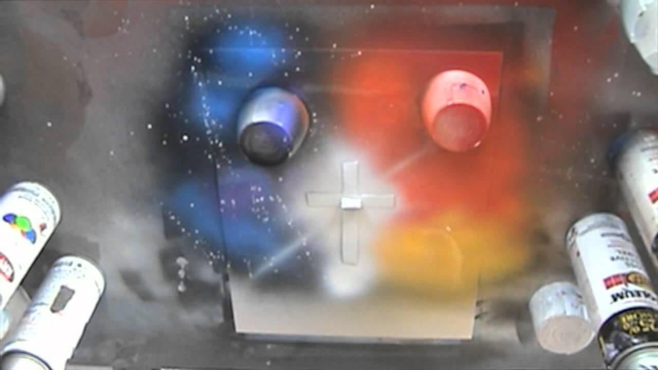 Spray Paint Art Tutorial: Working With Stencils – Youtube Throughout Space Stencils For Walls (Image 20 of 20)