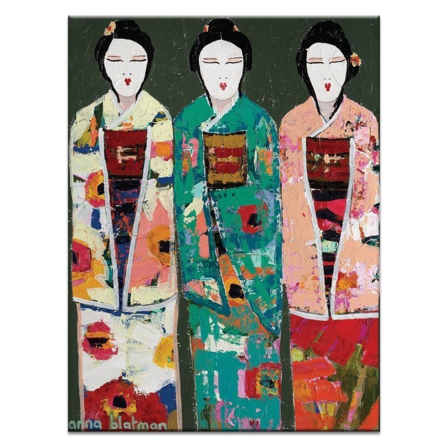 Spring Geisha – Artist Lane | Canvas Wall Art Inside Geisha Canvas Wall Art (View 4 of 20)