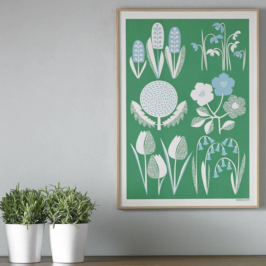 Spring Seasonal Screen Printed Wall Artbobbie Print Intended For Seasonal Wall Art (Image 10 of 20)