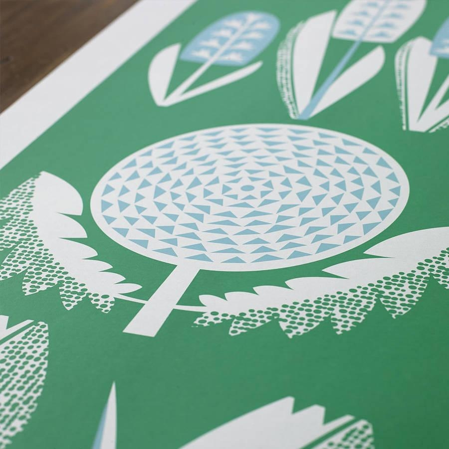 Spring Seasonal Screen Printed Wall Artbobbie Print Within Seasonal Wall Art (View 11 of 20)
