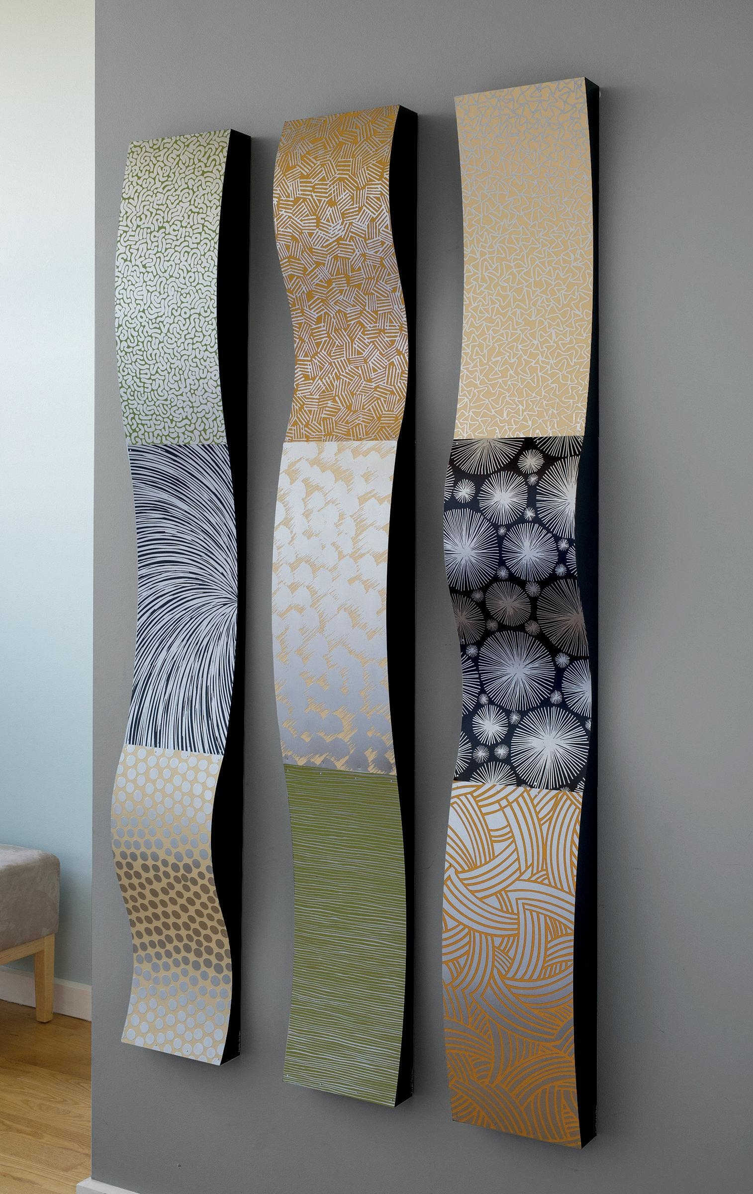 Stainless Steel Wall Ribbonslinda Leviton (Metal Wall Pertaining To Contemporary Metal Wall Art Sculpture (View 7 of 20)