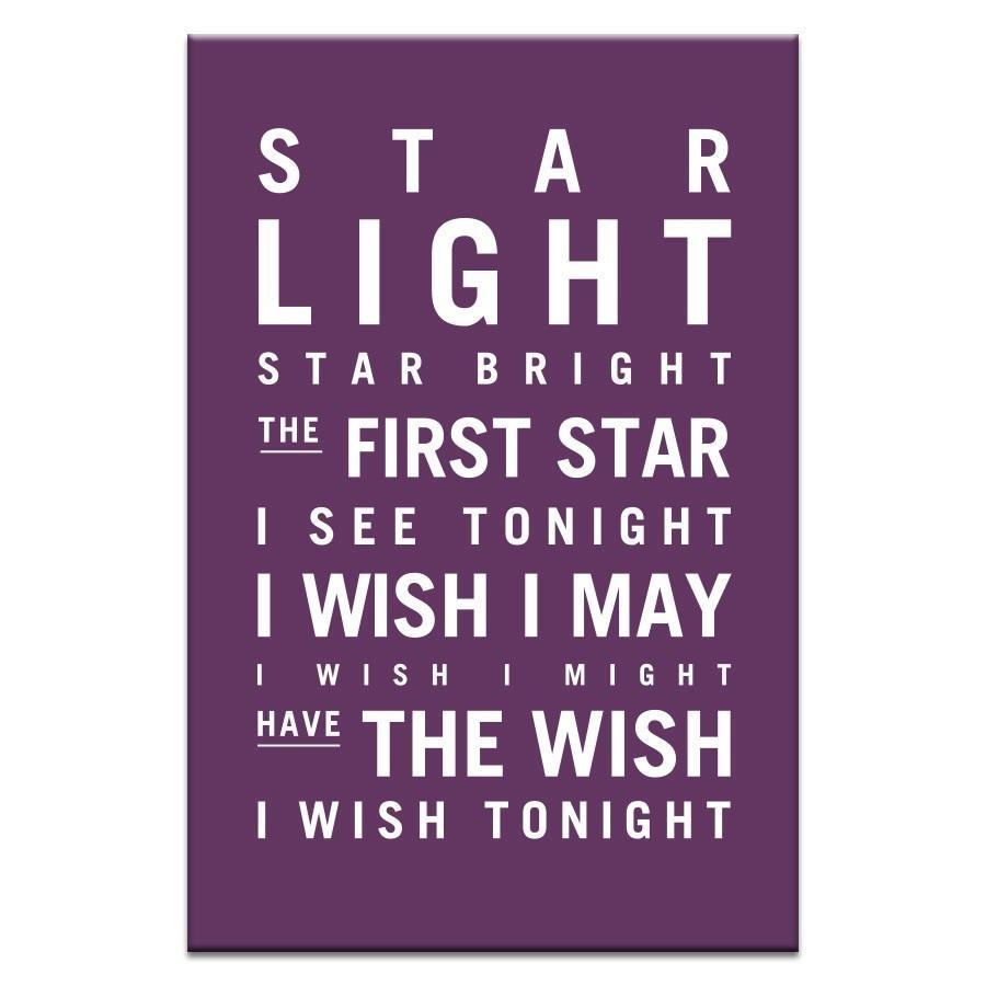 Star Light Star Bright (Aubergine) – Artist Lane | Canvas Wall Art Regarding Aubergine Wall Art (View 20 of 20)