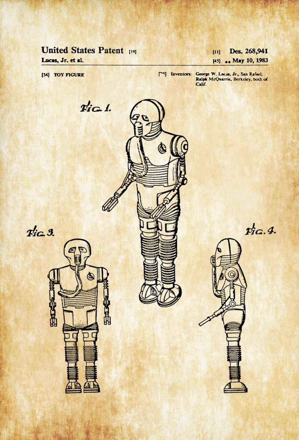 Star Wars Medical Droid Patent Poster – Patent Print, Wall Decor Within Medical Wall Art (View 12 of 20)