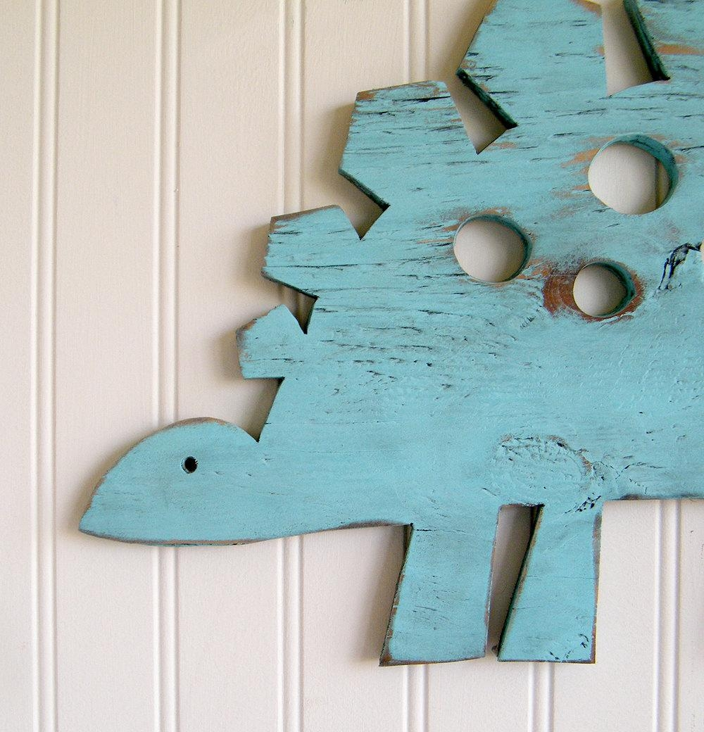 Stegosaurus Small Dinosaur Decor Dino Wall Art Sign Kids With Dinosaur Wall Art For Kids (View 2 of 20)