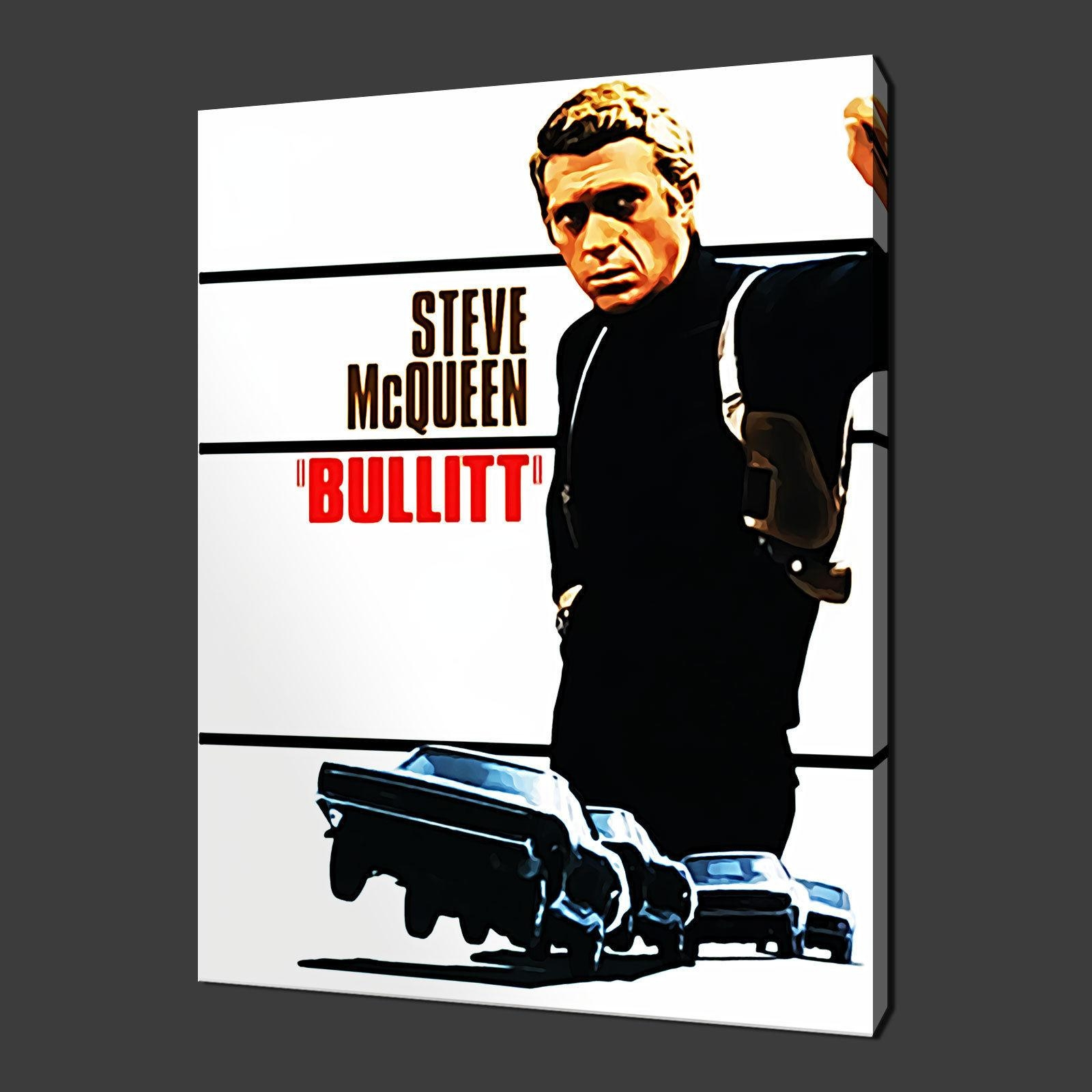 Steve Mcqueen Bullitt Canvas Wall Art Pictures Prints 30 X 20 Inch Pertaining To Steve Mcqueen Wall Art (View 5 of 20)
