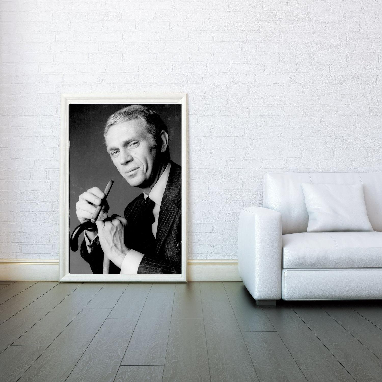Steve Mcqueen Decorative Arts Prints & Posters Wall Art Print Inside Steve Mcqueen Wall Art (View 8 of 20)