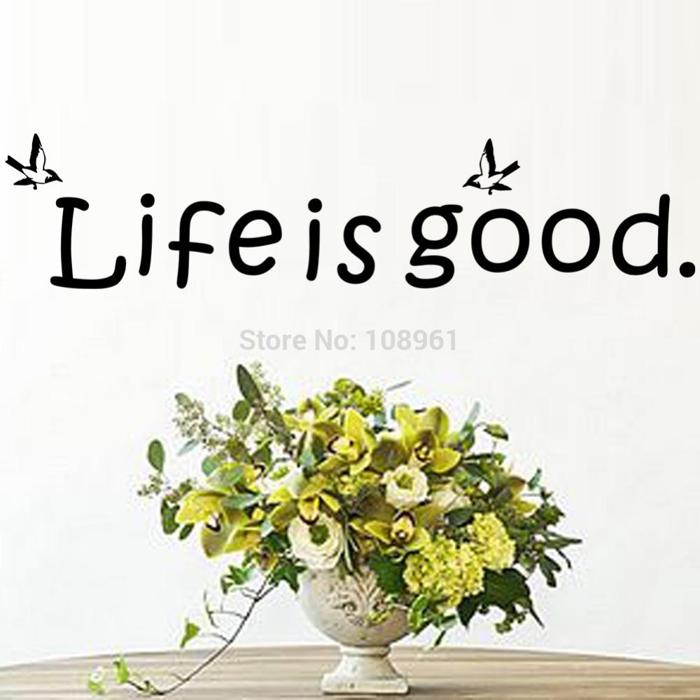 Sticker Cutter Picture – More Detailed Picture About Life Is Good Intended For Life Is Good Wall Art (View 6 of 20)