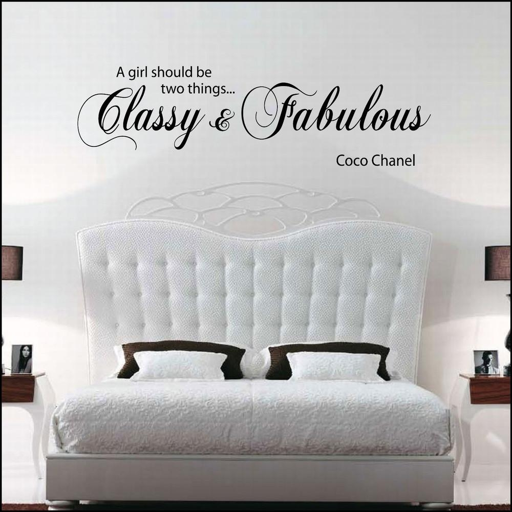 Sticker Design Picture – More Detailed Picture About Free Shopping Within Coco Chanel Wall Stickers (Image 14 of 20)