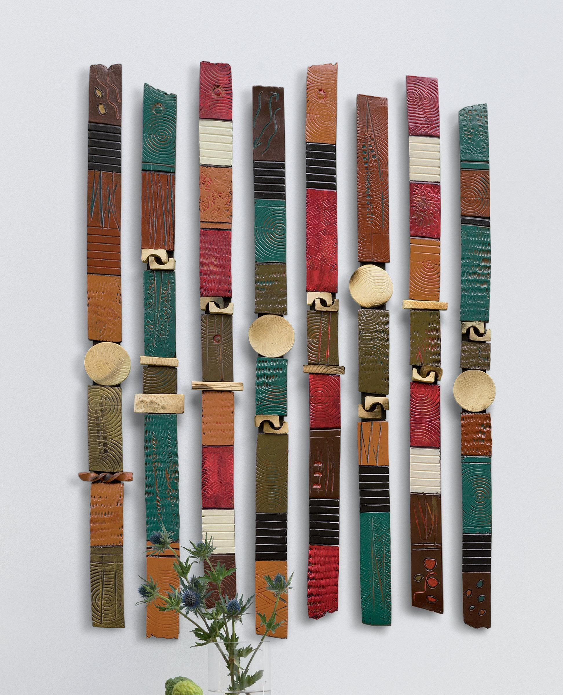 Story Sticksrhonda Cearlock (Ceramic Wall Sculpture) | Artful Home Within Large Ceramic Wall Art (View 4 of 20)
