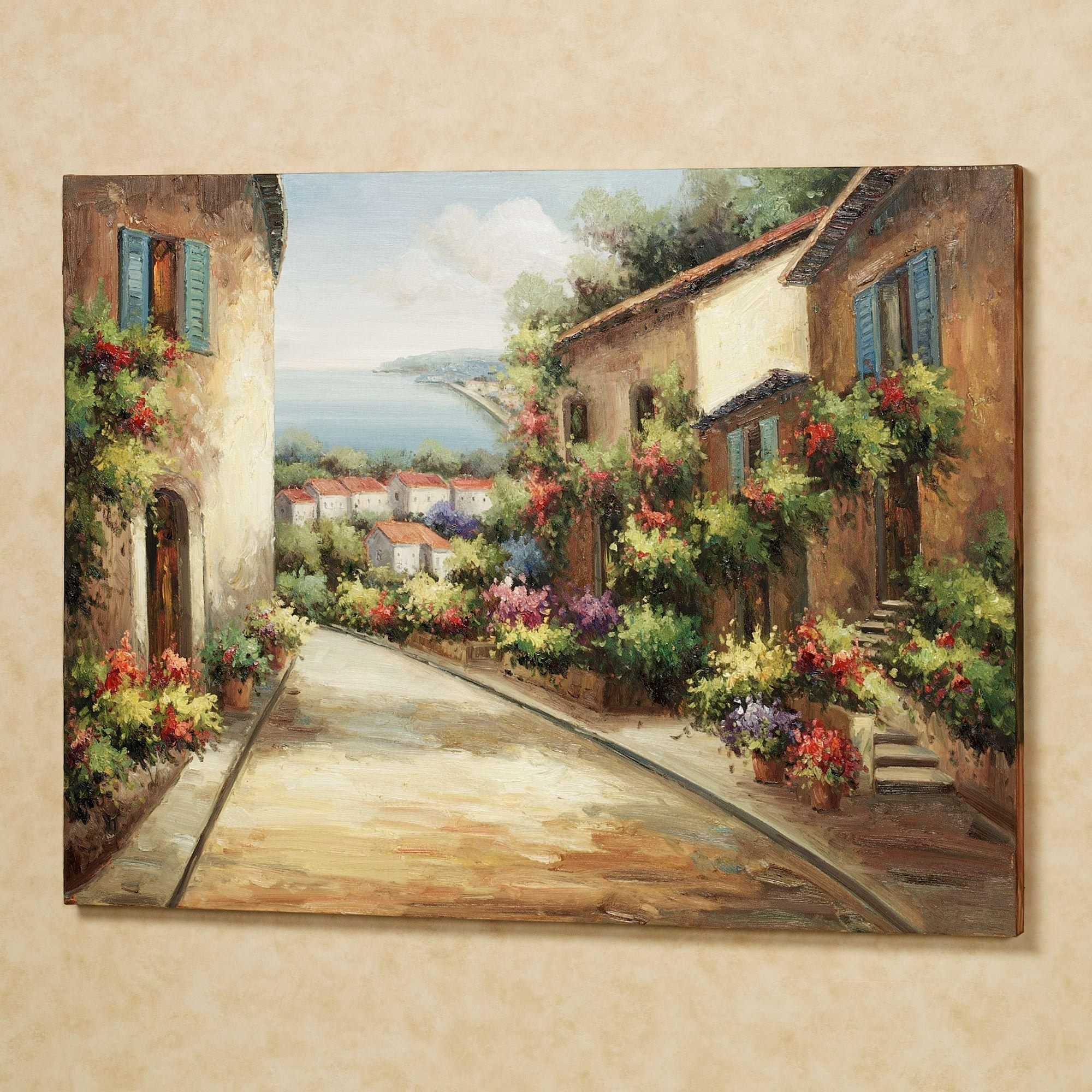 Streets Of Tuscany Canvas Wall Art For Tuscan Wall Art Decor (Image 6 of 20)