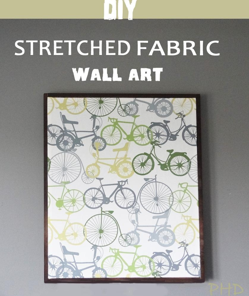 Stretched Fabric Wall Art Intended For Fabric Wall Art (Image 17 of 20)