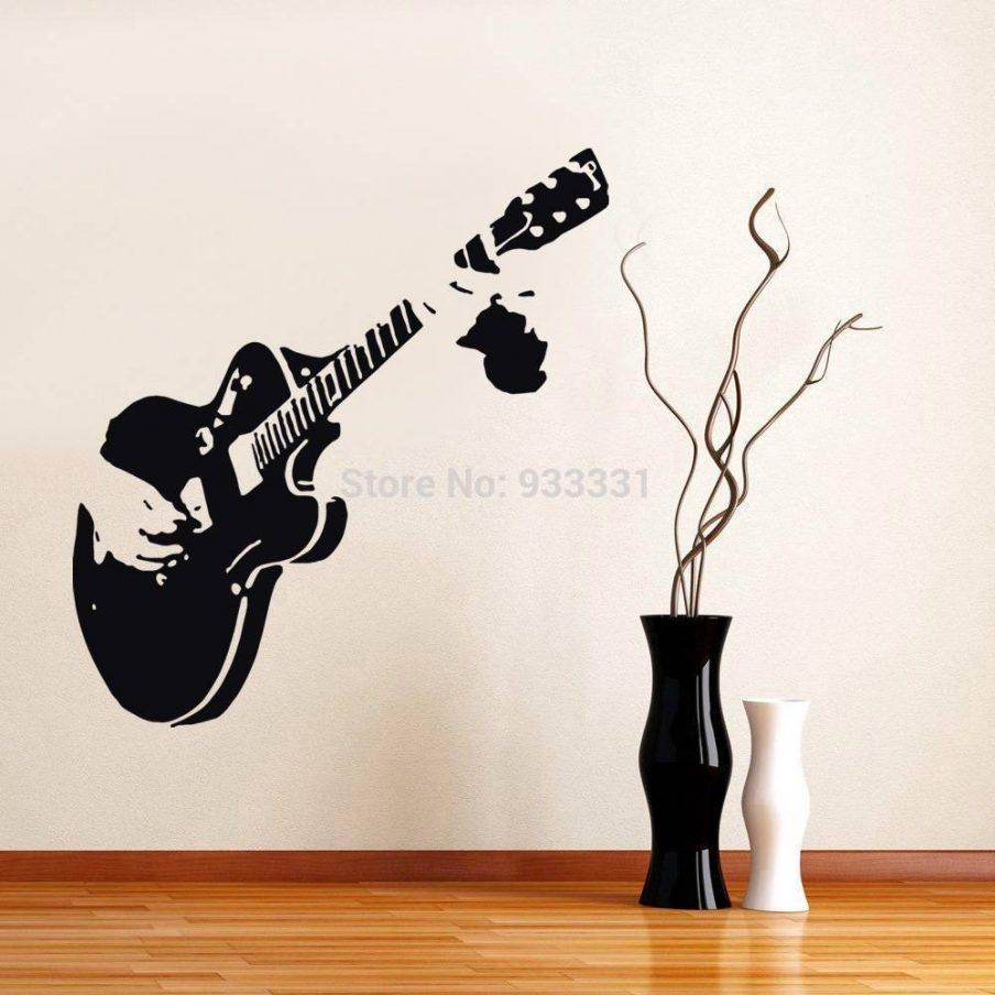 Stupendous Music Themed Wedding Room Decorations Guitar Wall Art Throughout  Music Themed Wall Art (Image