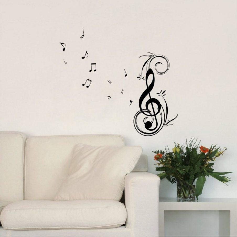 Stupendous Musical Notes Wall Art Uk Removable Wall Art Decals Within Music Note Wall Art (Image 16 of 20)