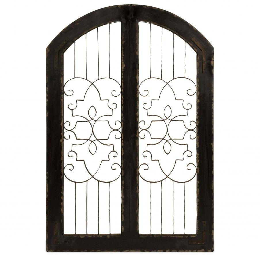 Stupendous Vintage Gate Wall Decor Piece Vine Wall Daccor Metal Within Metal Gate Wall Art (View 17 of 20)