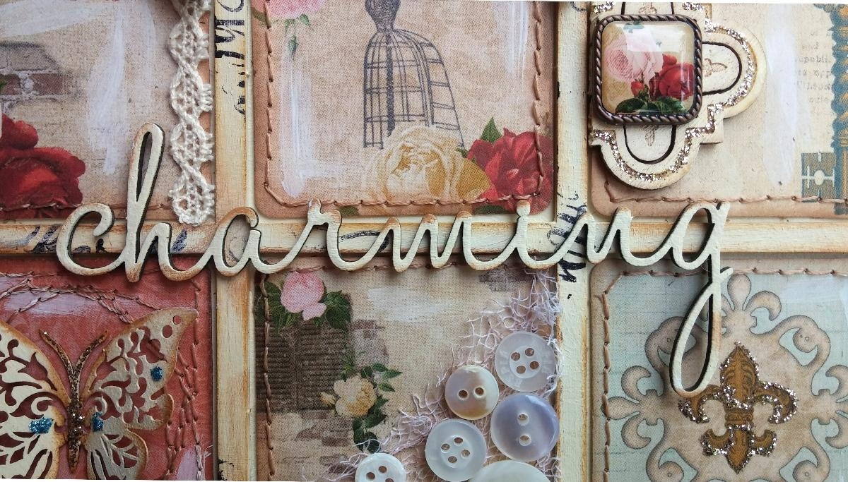 Such A Pretty Mess: Shabby Chic Wall Art {Bo Bunny & Dusty Attic} For Shabby Chic Wall Art (View 8 of 20)
