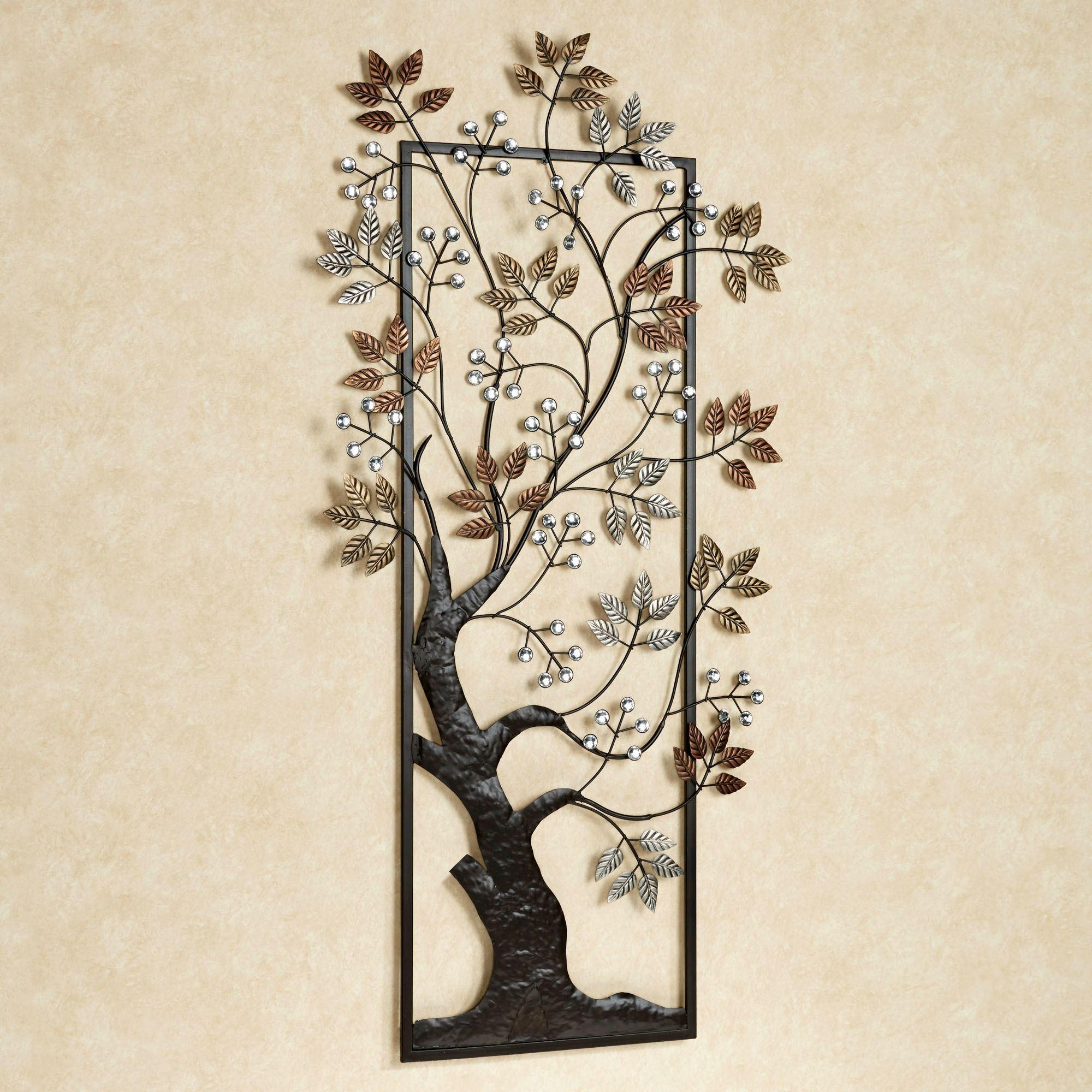 Sun Kissed Branches Metal Tree Wall Art With Metal Wall Art Trees And Branches (Image 12 of 20)