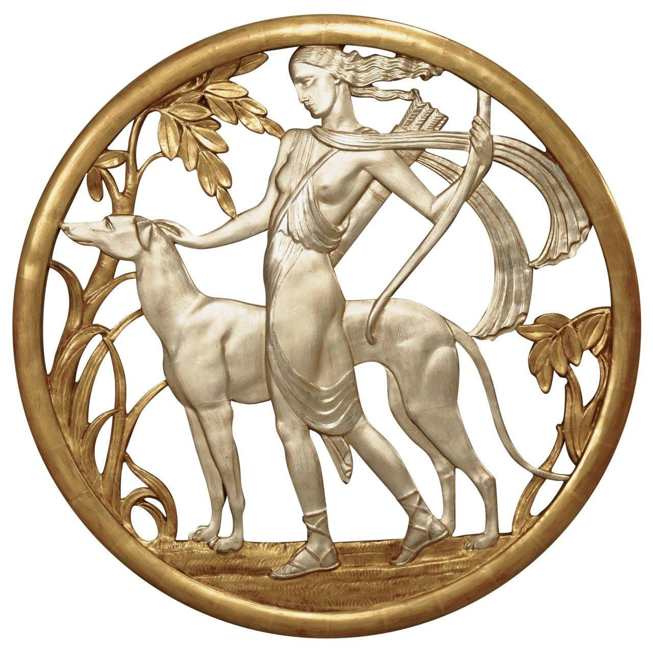Super Rare Set Of 1930S Art Deco Sporting Metal Plaques At 1Stdibs Throughout Art Deco Metal Wall Art (View 5 of 20)