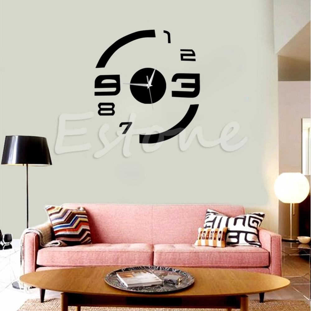 Superb Decal Wall Clock 85 Wall Decal Clock Hands D Acrylic Mirror Within Kohls Wall Decals (Image 8 of 20)