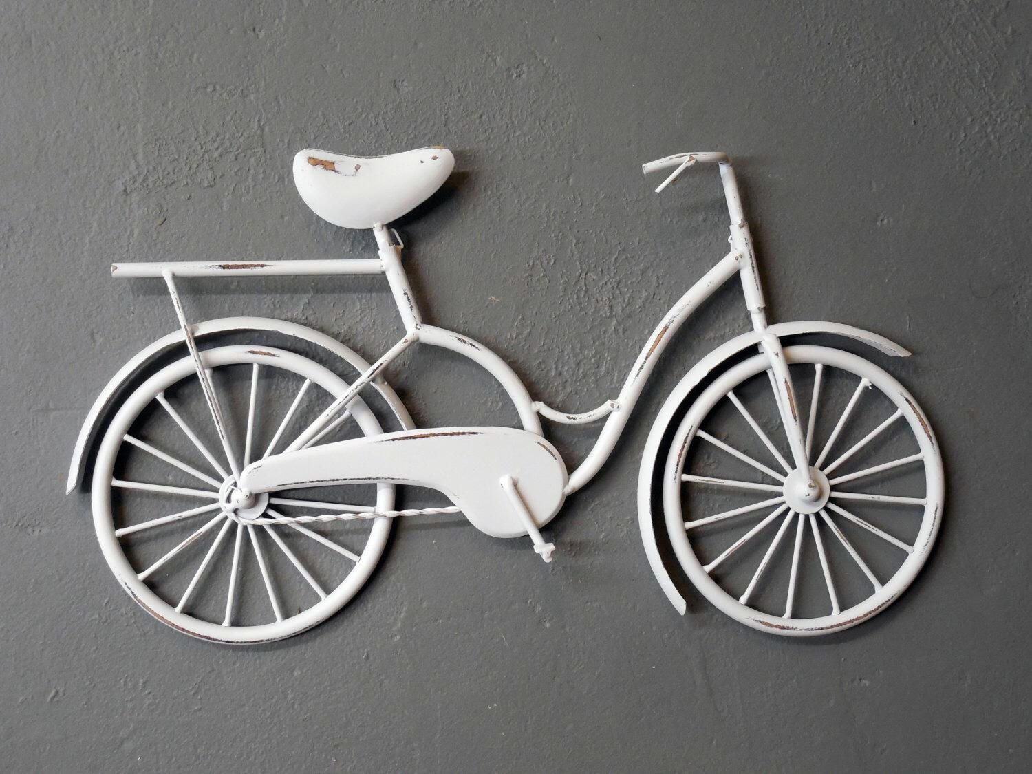 Superb Red Metal Bicycle Wall Art Bike Wheel Furniture For Intended For Metal Bicycle Wall Art (Image 14 of 20)