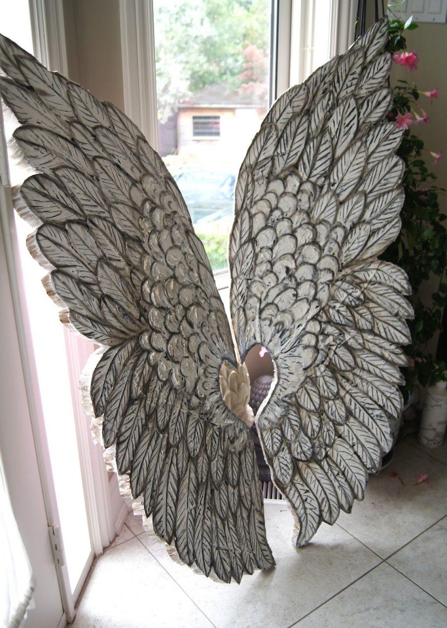 Superb Wooden Angel Wings Wall Decor Uk Angel Wings Wall Decor Inside Angel Wings Sculpture Plaque Wall Art (View 4 of 20)