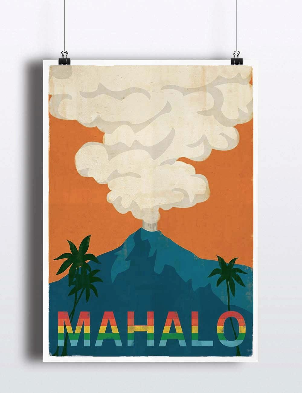 Superb Wooden Hawaiian Islands Wall Art Vintage Hawaii Poster Regarding Hawaiian Islands Wall Art (Image 16 of 20)