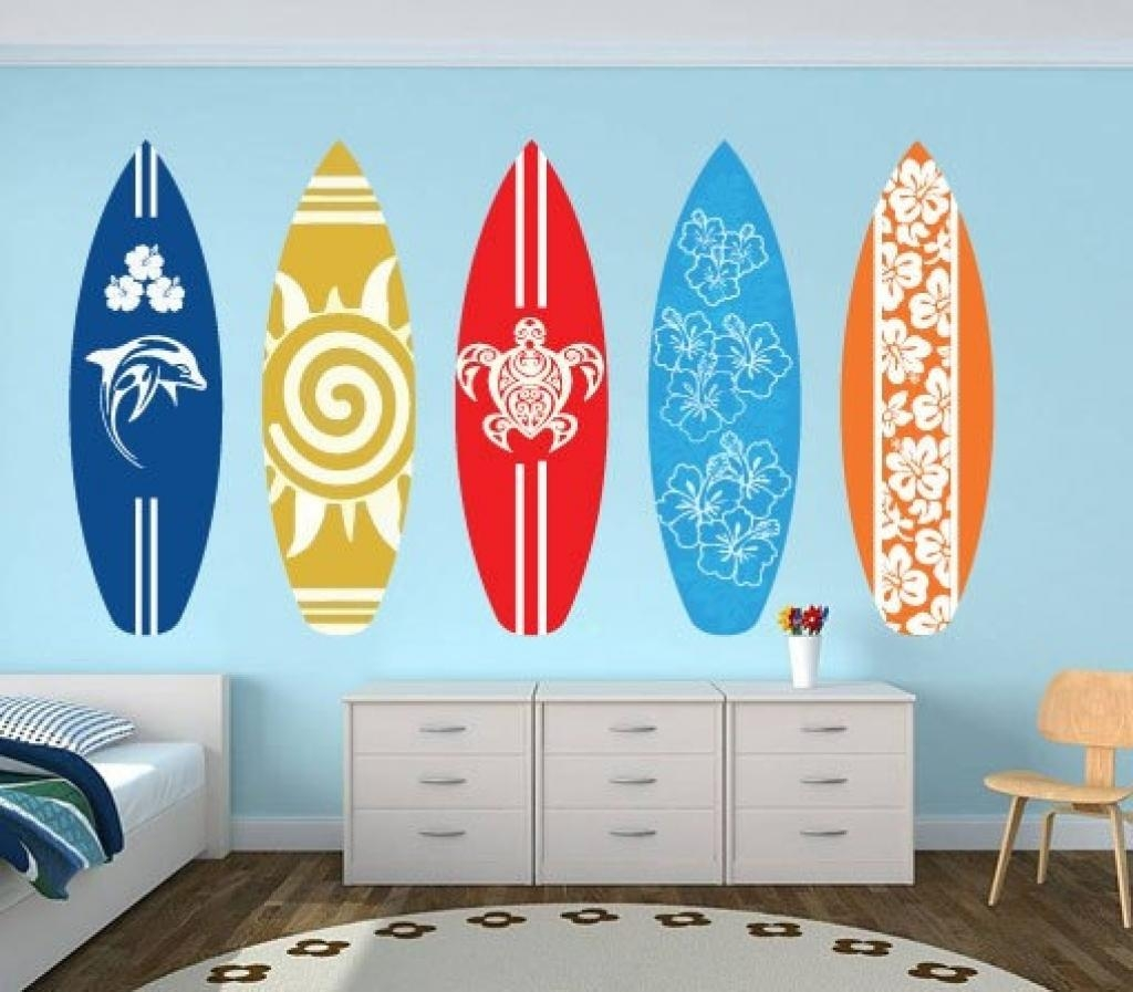 Surfboard, Wall Art And Beach Decor On Pinterest Surfboard Wall With Regard To Decorative Surfboard Wall Art (Image 14 of 20)
