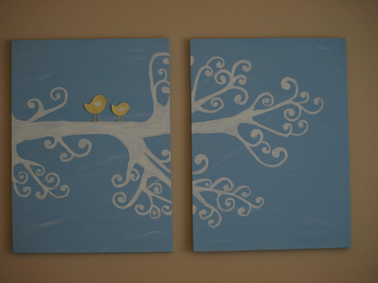 Surprising Art Canvas Ideas With Cute Little Bird On Small Branch Inside Small Canvas Wall Art (View 17 of 20)