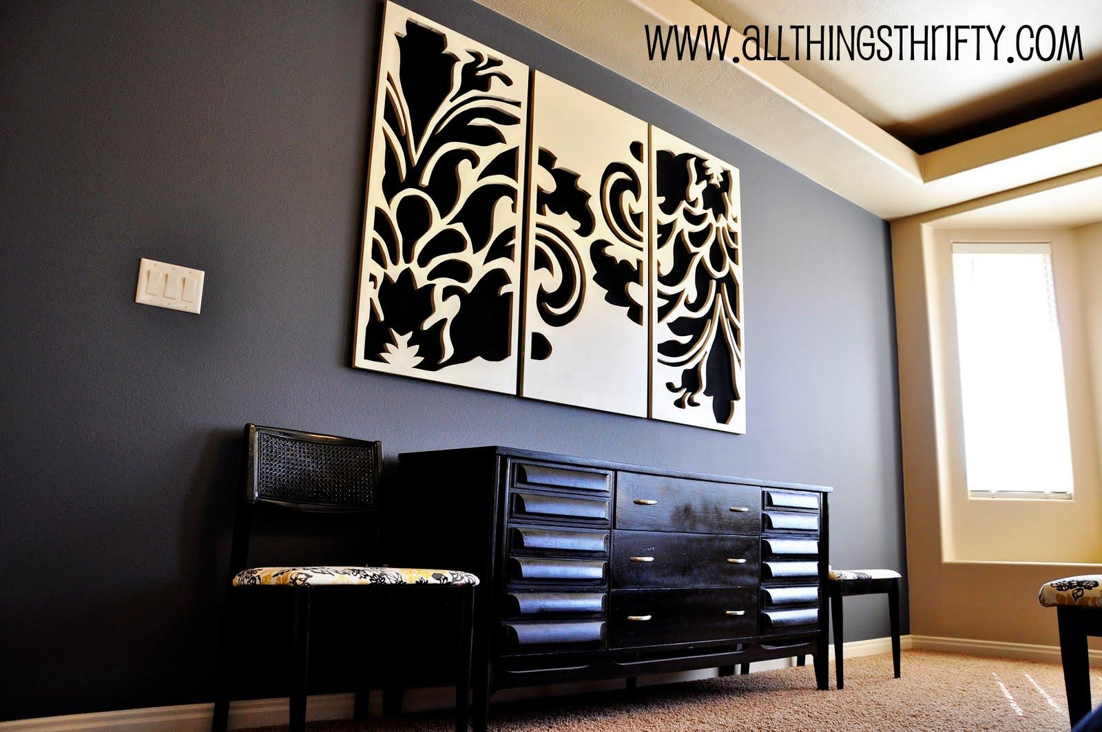 Sytycd Week 7: Building Materialsdecorative Wall Art | All With Regard To Black And White Damask Wall Art (View 7 of 20)