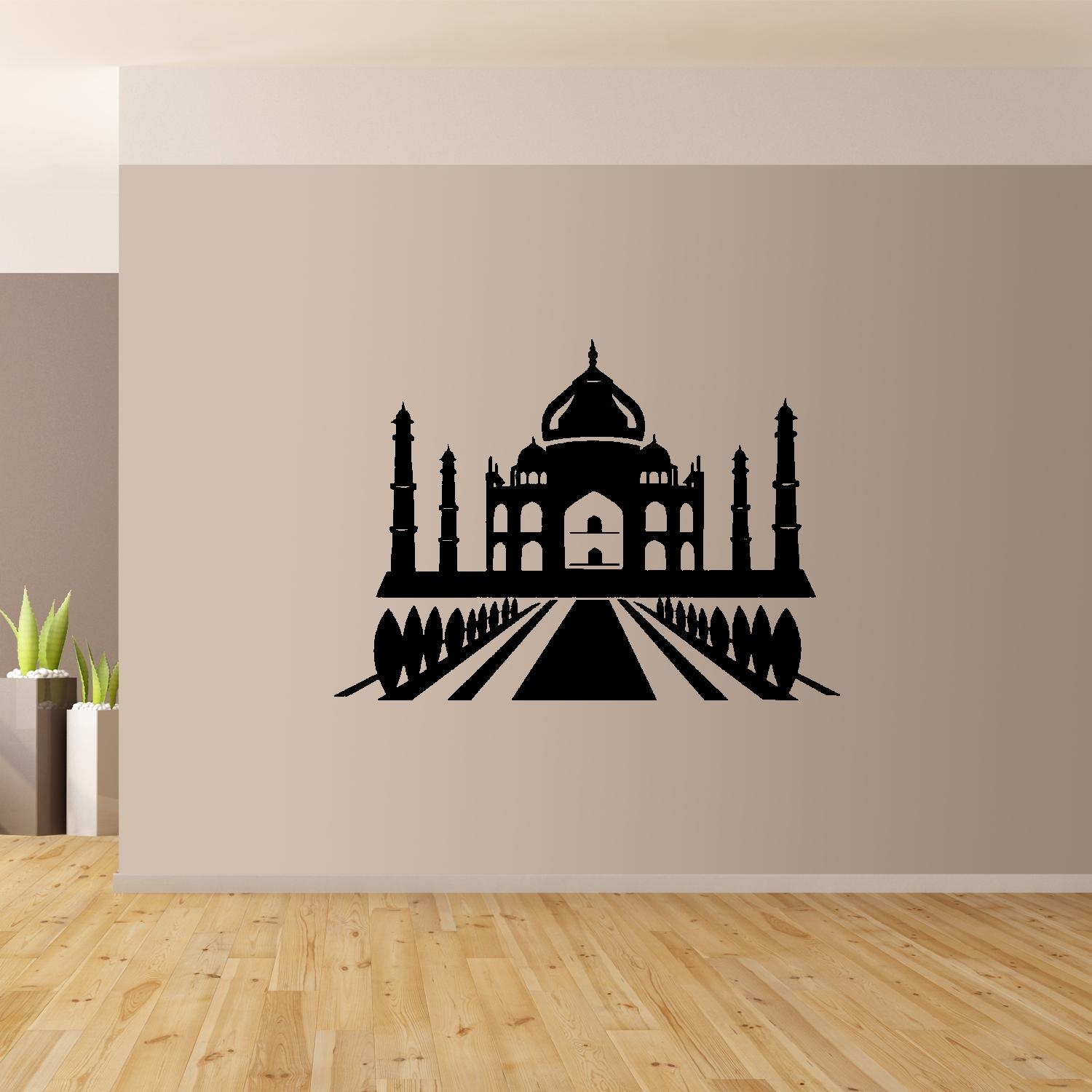 Taj Mahal Wall Art Giant Sticker Mural Graphic Wallart India Intended For Taj Mahal Wall Art (View 12 of 20)
