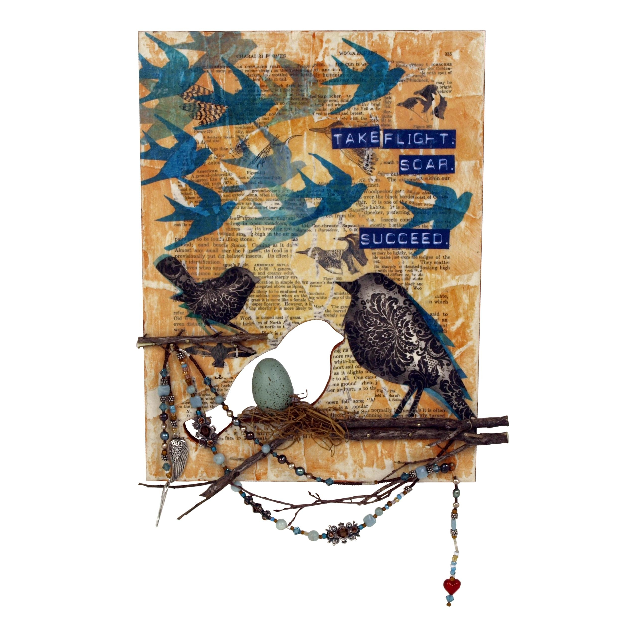 Take Flight Wall Artmarie Browning | Walnuthollowcrafts Intended For Decoupage Wall Art (Image 18 of 20)
