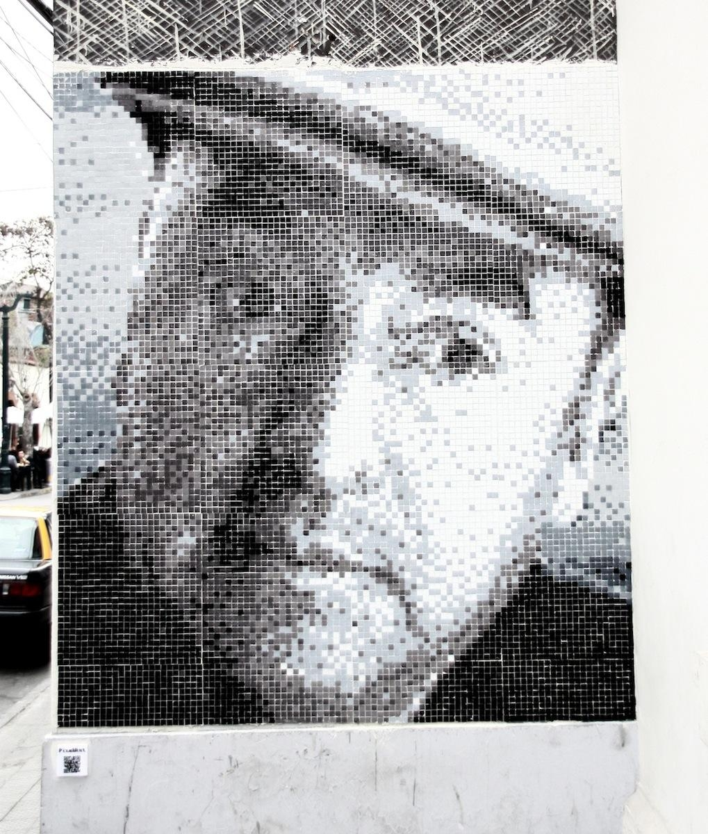 Taking It To The Streets: Pixel In Santiago | Mosaic Art Now Intended For Pixel Mosaic Wall Art (View 17 of 20)
