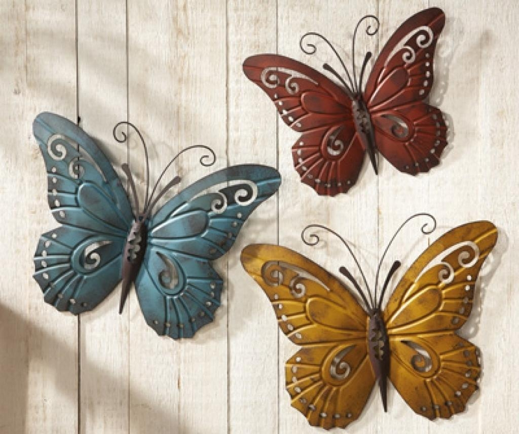 Tall Metal Wall Art Topiary Of Blooming Flowers And Butterflies Throughout Topiary Wall Art (Image 14 of 20)
