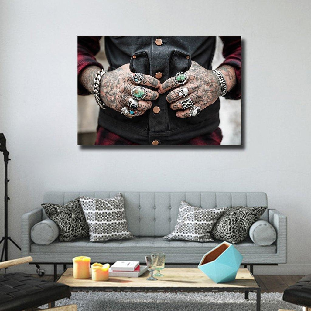 Tattoo Canvas Wall Art | Tattoo Home Decor | Popsugar Home Photo 7 With Tattoo Wall Art (Image 12 of 20)