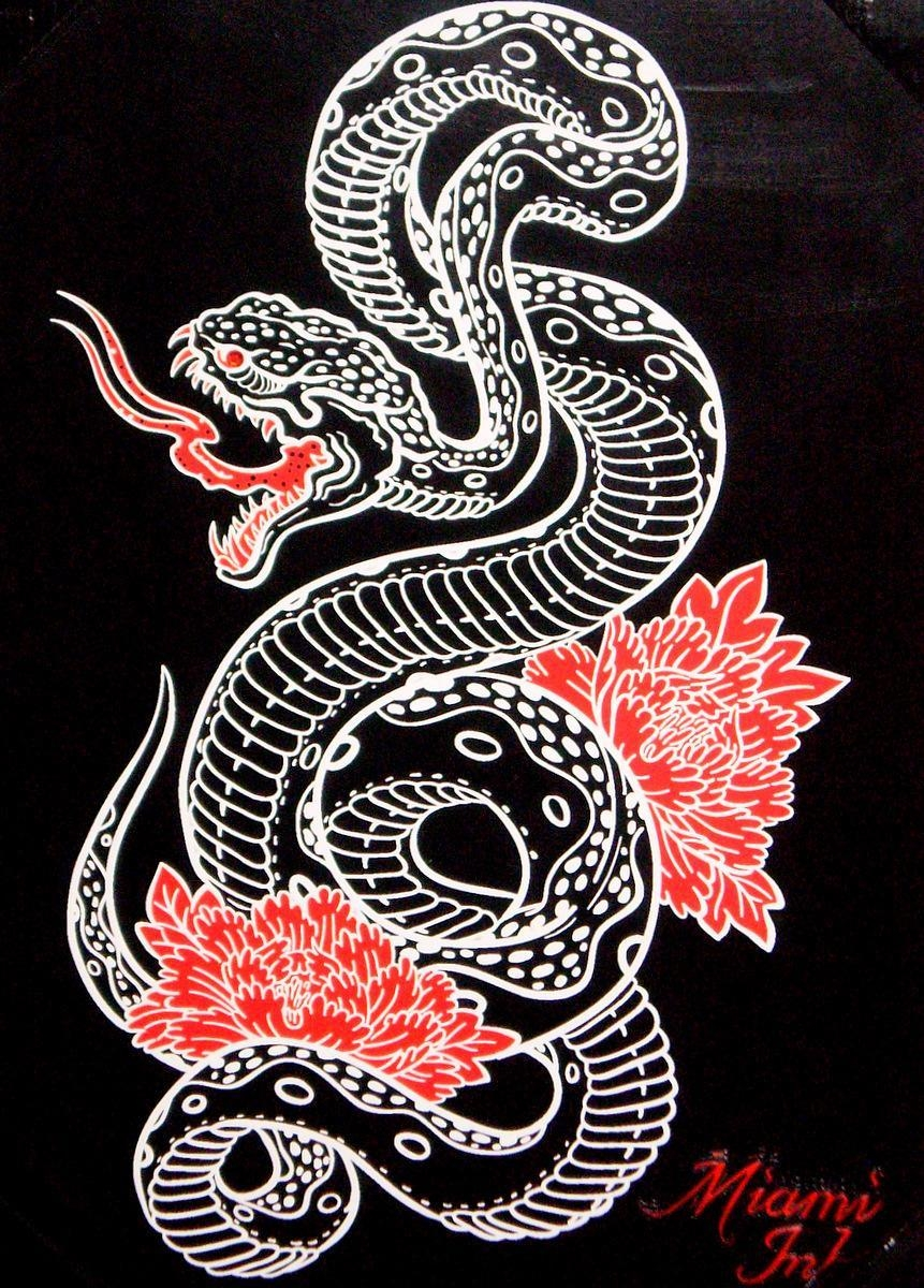 "Tattoo Snake Wall Artmiami Ink 19"" X New – Ad#: 1627105 – Addoway Pertaining To Tattoo Wall Art (Image 13 of 20)"
