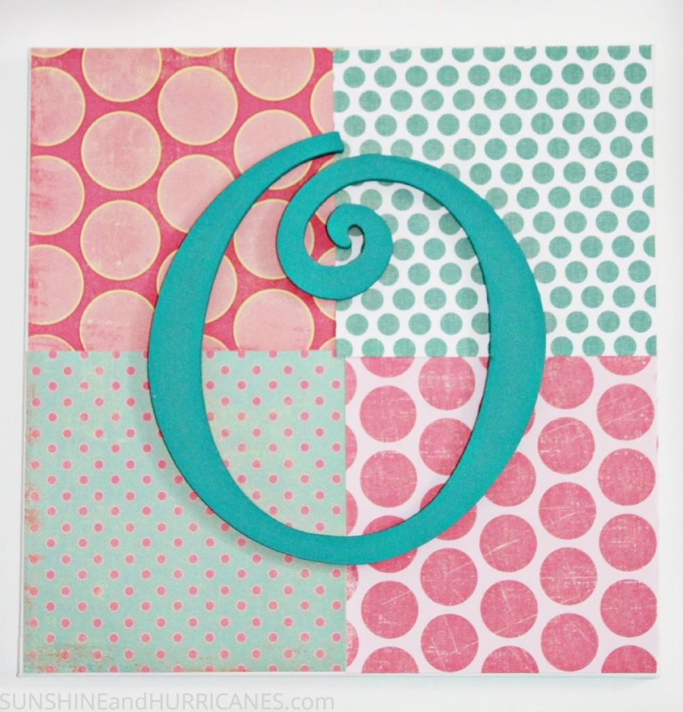 Teen Craft: Monogram Wall Art Pertaining To Wall Art For Teens (Image 14 of 20)