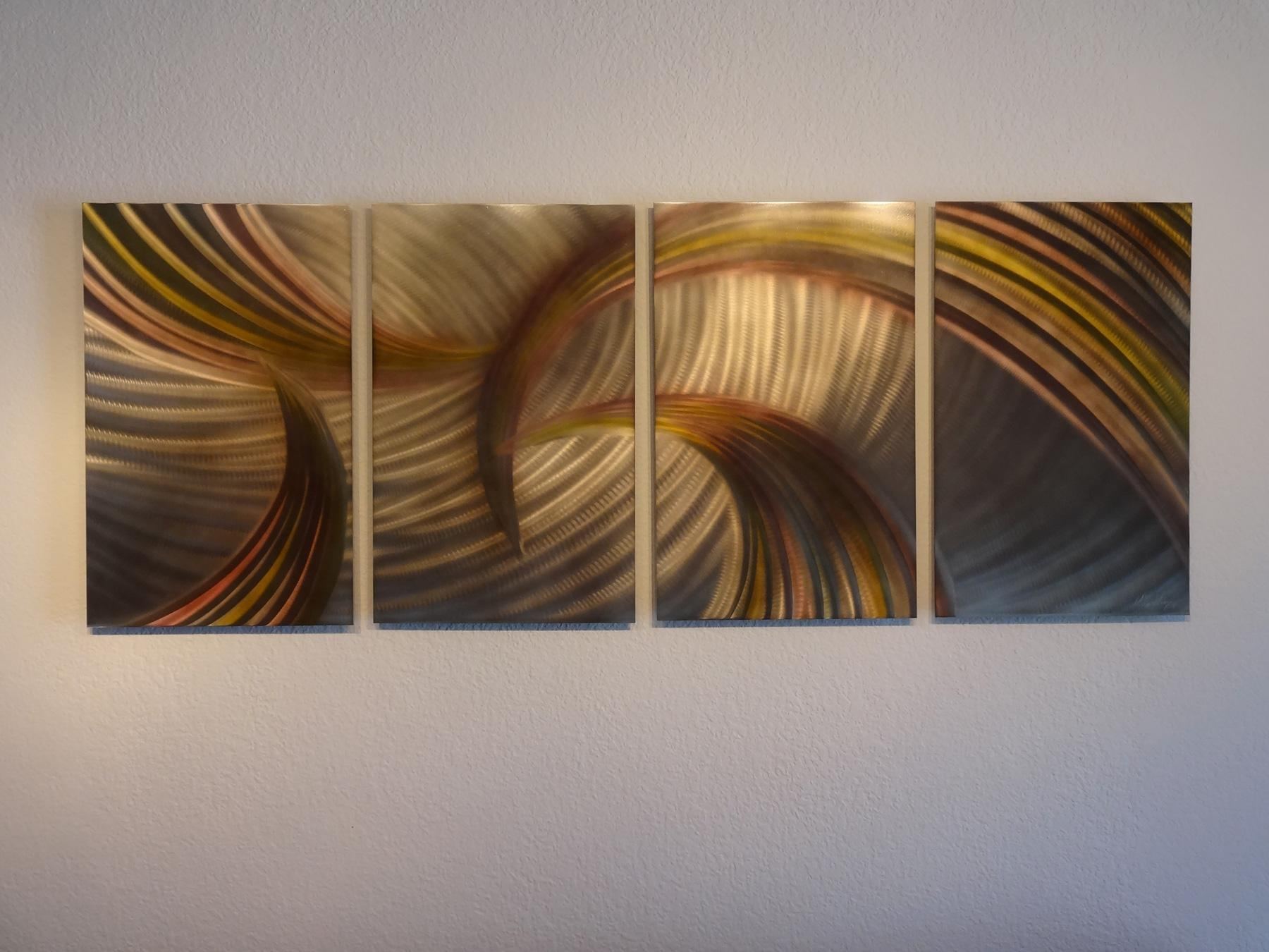 Tempest Bronze – Abstract Metal Wall Art Contemporary Modern Decor Within Metal Abstract Wall Art (View 12 of 20)
