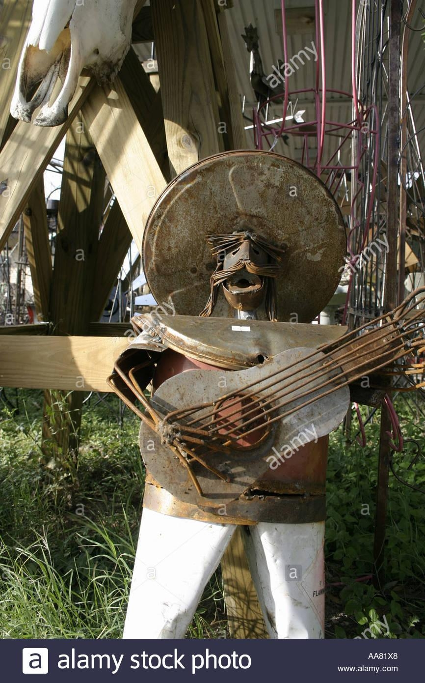 Texas/mexican Metal Art – Mariachi Man Made From Scrap Metal Stock Pertaining To Mexican Metal Art (Image 16 of 20)