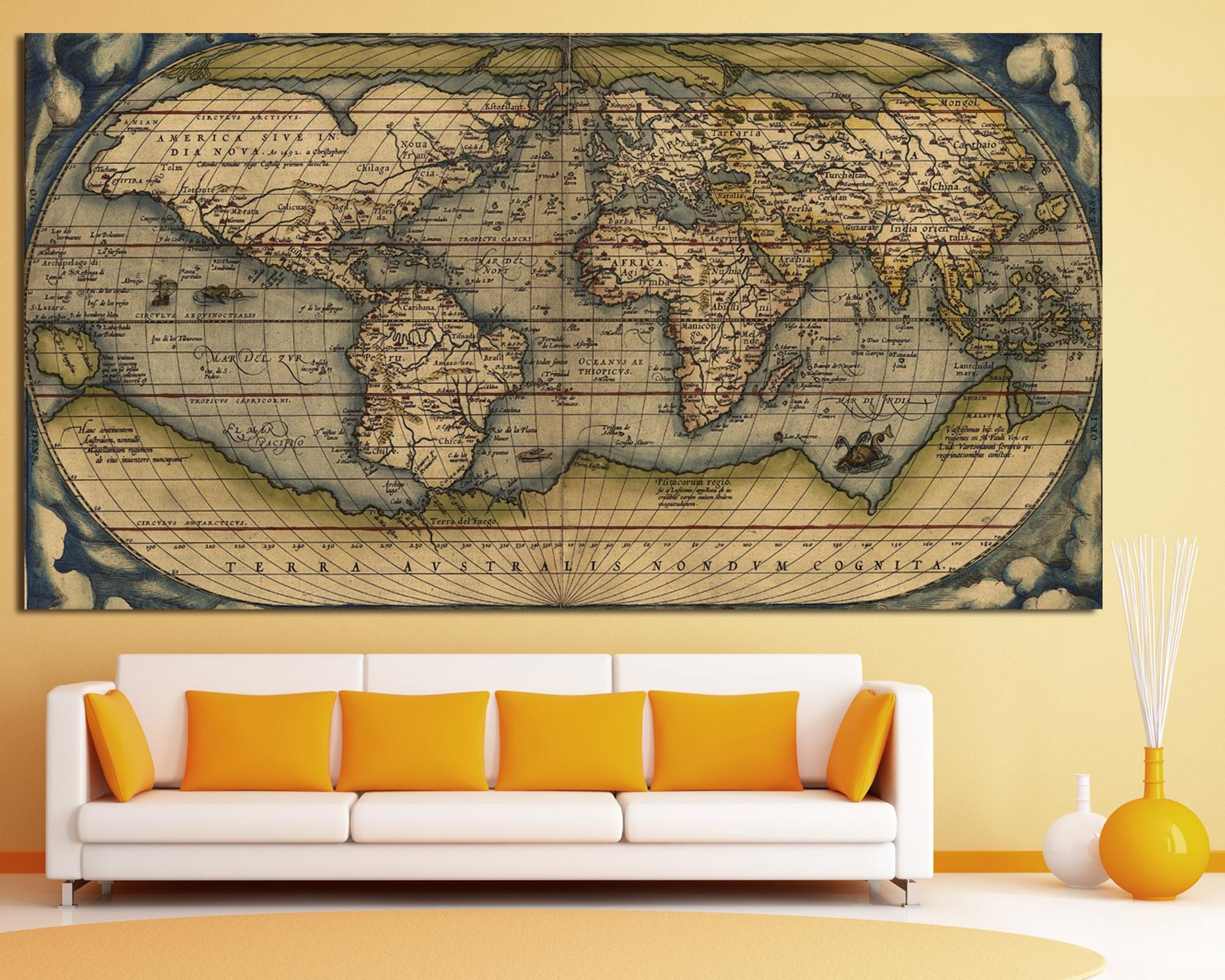 Texelprintart Studio – Canvas Wall Art Print For Home Decoration Inside Large Vintage Wall Art (Image 13 of 20)