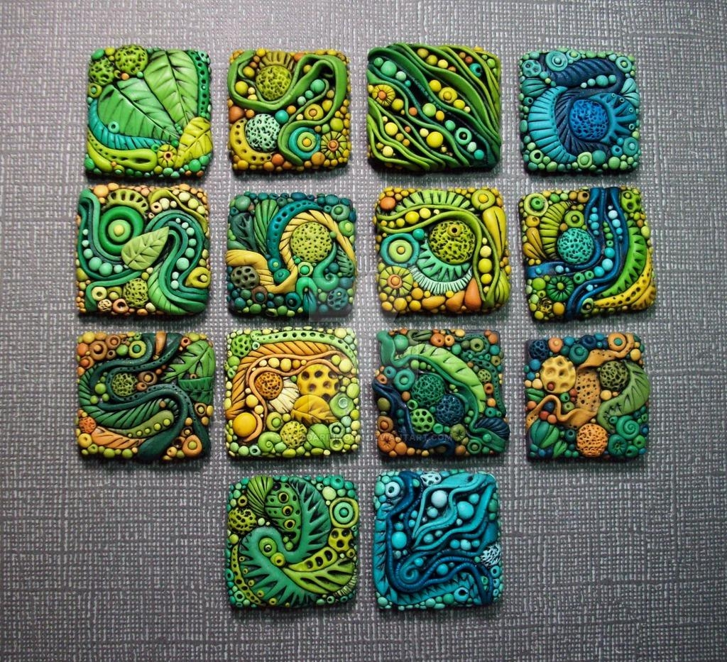 Textured Polymer Clay Inchiesmandarinmoon On Deviantart In Polymer Clay Wall Art (Image 19 of 20)
