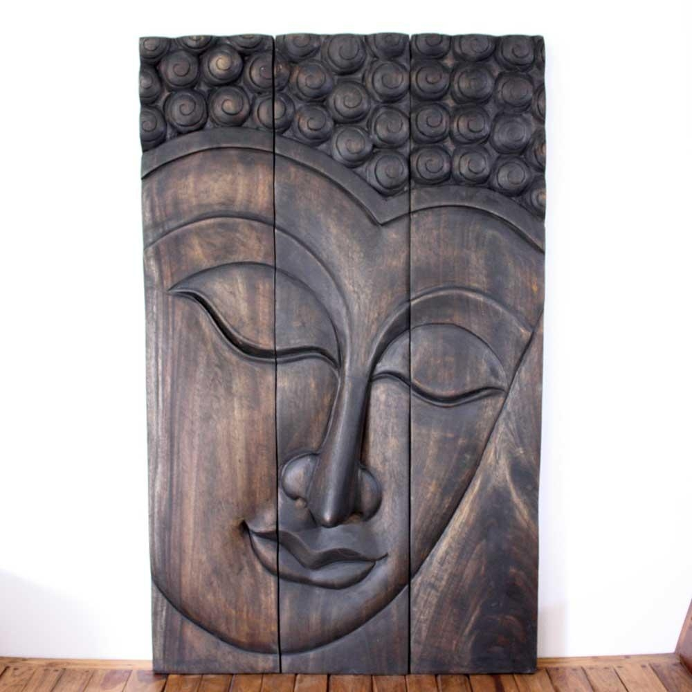 Thai Decor Wall Art, Buddha Wood Panels Beautiful Thai Wall Decor (Image 13 of 20)