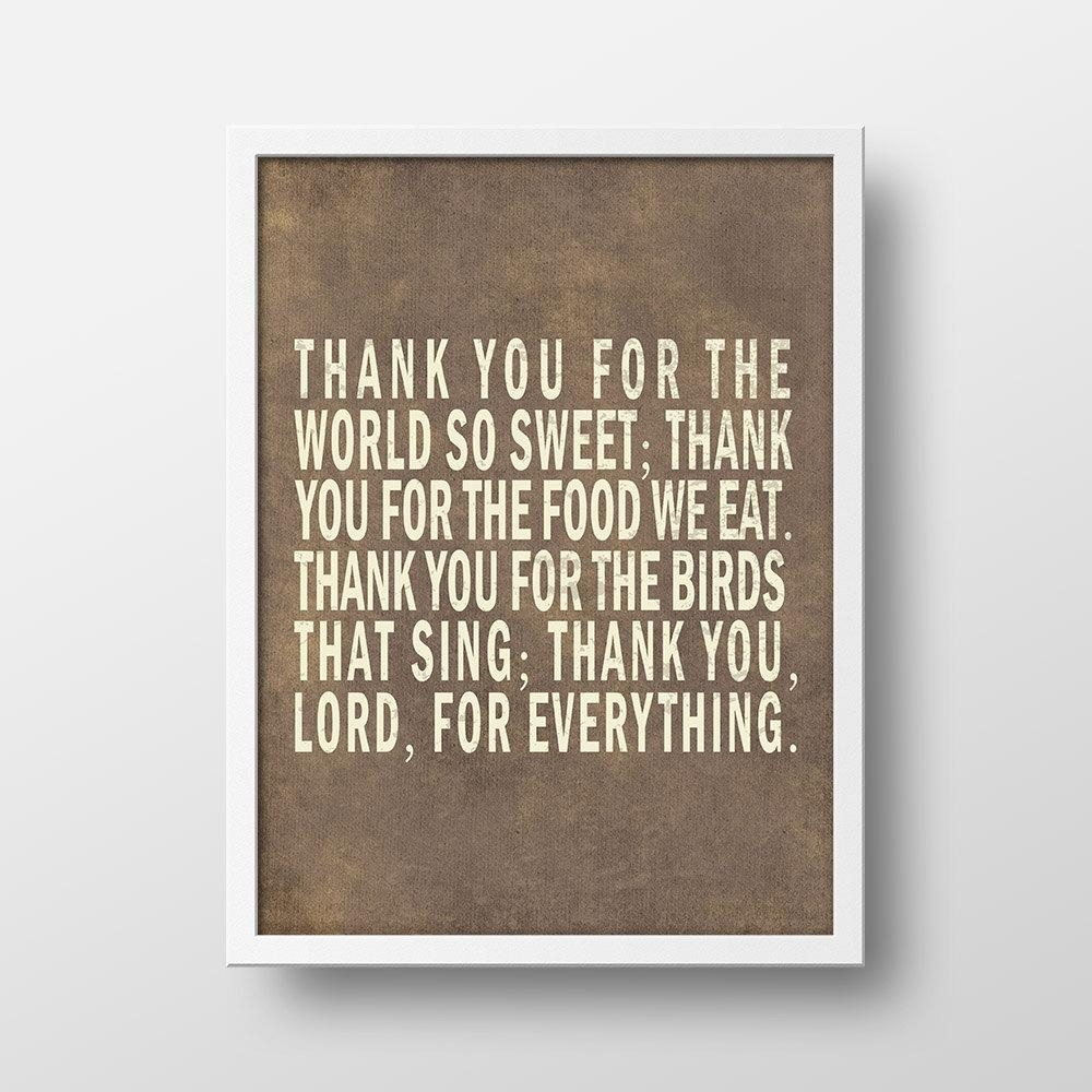 Thank You For The World So Sweet Bible Verse Wall Art In Bible Verses Wall Art (Image 16 of 20)