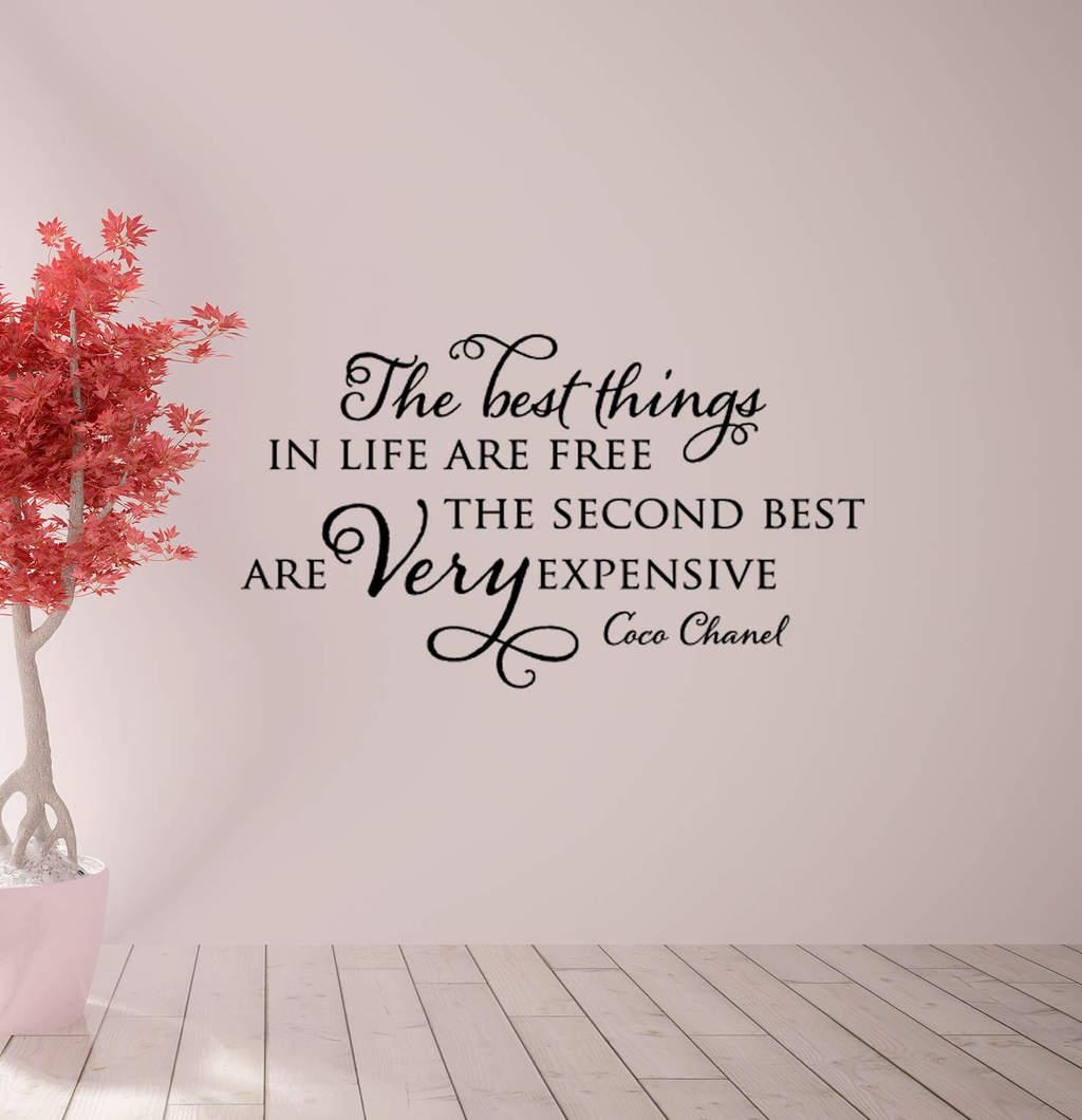 The Best Things Coco Chanel Wall Decal Sticker | Beauty Decal Intended For Coco Chanel Wall Stickers (Image 15 of 20)