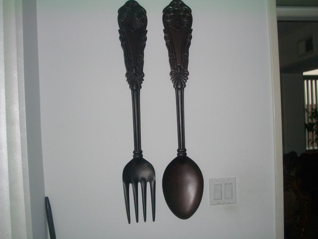 The Big Fork And Spoon — Decor Trends : Easy Big Fork And Spoon With Big Spoon And Fork Wall Decor (Image 18 of 20)