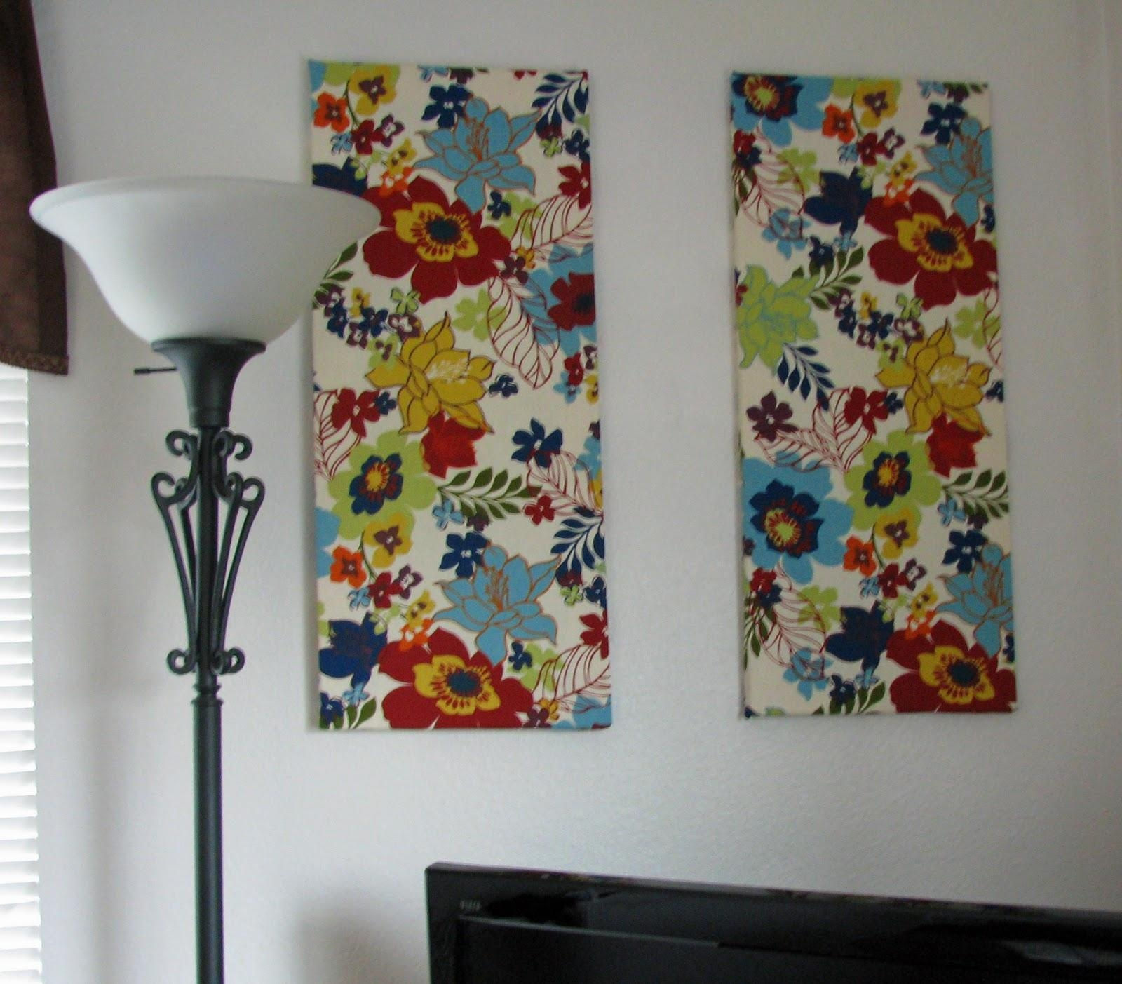 The Closet Domestic: Hiding White Walls: Fabric Wall Art Throughout Fabric Canvas Wall Art (Image 17 of 20)