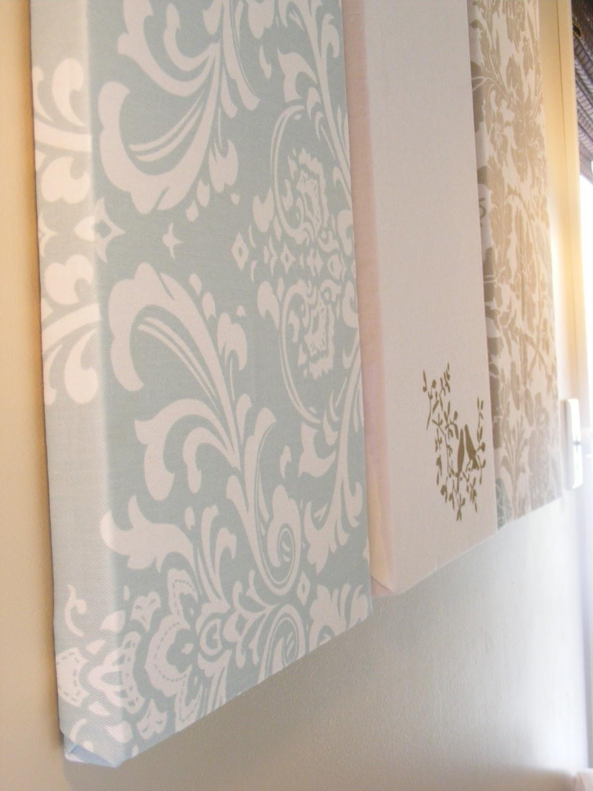 The Complete Guide To Imperfect Homemaking: Simple, Thrifty Diy Art Within Fabric Canvas Wall Art (Image 18 of 20)