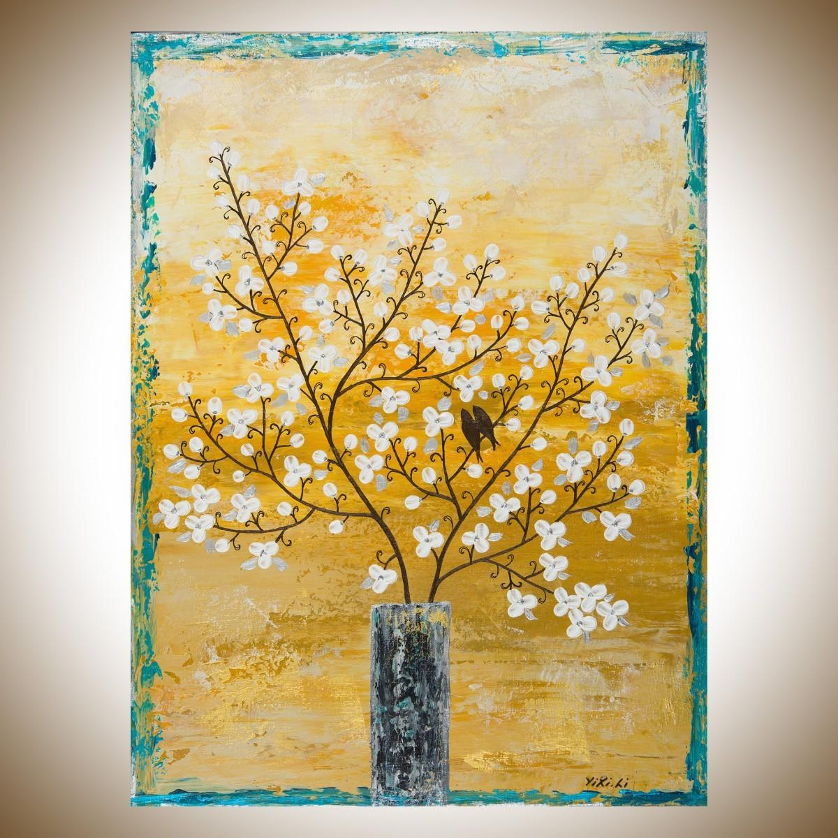 2018 Latest Painted Trees Wall Art | Wall Art Ideas