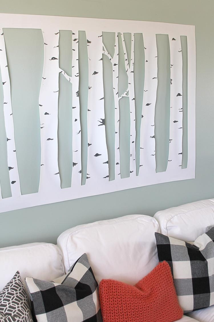 The Craft Patch: Large, Inexpensive Diy Aspen Tree Wall Art Pertaining To Large Inexpensive Wall Art (Image 19 of 20)
