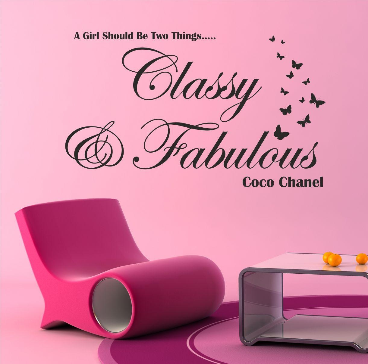 The Grafix Studio | Classy And Fabulous Coco Chanel Wall Art Sticker Regarding Coco Chanel Wall Stickers (Image 16 of 20)