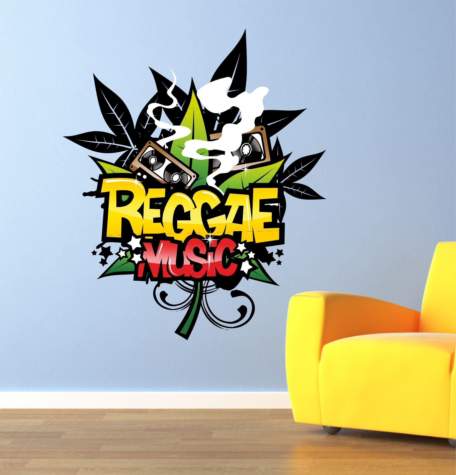 The Grafix Studio | Reggae Music Graffiti Wall Art Sticker For Graffiti Wall Art Stickers (Image 19 of 20)